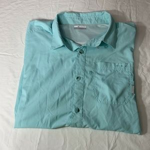 Columbia Mens Blue Fishing Shirt XL